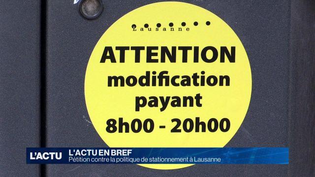 Pétition contre la politique de stationnement à Lausanne