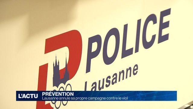Lausanne annule sa propre campagne contre le viol