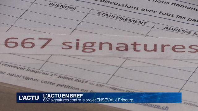 667 signatures contre le projet ENSEVAL à Fribourg