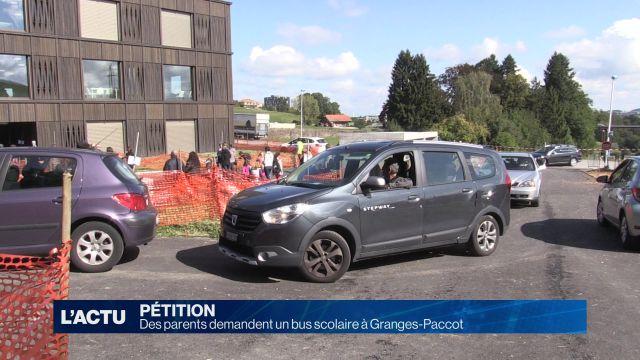 Des parents désirent un bus scolaire à Granges-Paccot