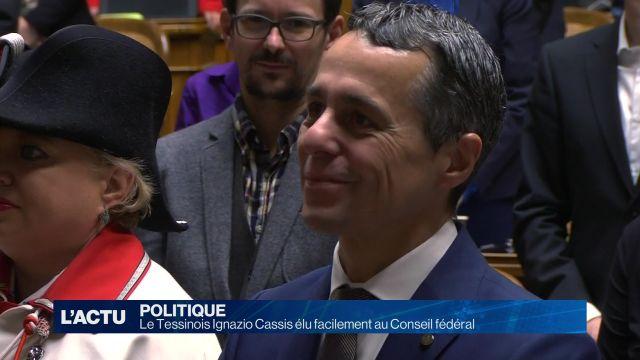 Ignazio Cassis élu facilement au Conseil fédéral
