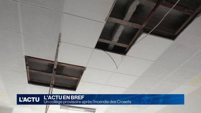 Un collège provisoire après l'incendie des Crosets
