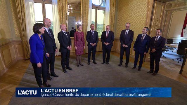 Ignazi Cassis sera ministre des affaires étrangères
