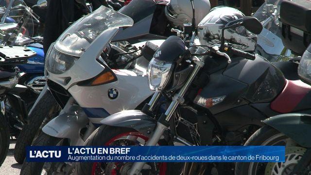 Augmentation du nombre d'accidents de deux-roues