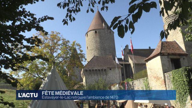 La fête médiévale d'Estavayer-le-Lac attire du monde.