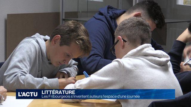 Les Fribourgeois s'inventent auteurs l'espace d'une journée