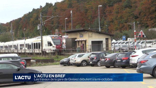 La gare de Givisiez modernisée et déplacée