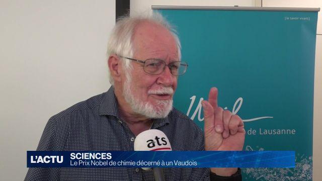 Le Prix Nobel de chimie décerné à un Vaudois