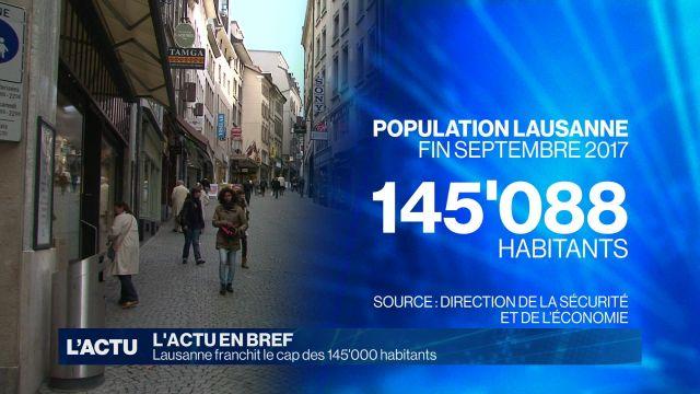 Lausanne franchit le cap des 145'000 habitants
