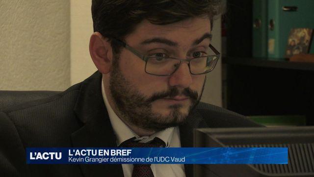 Kevin Grangier démissionne de l'UDC Vaud