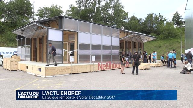 La Suisse remporte le Solar Decathlon 2017