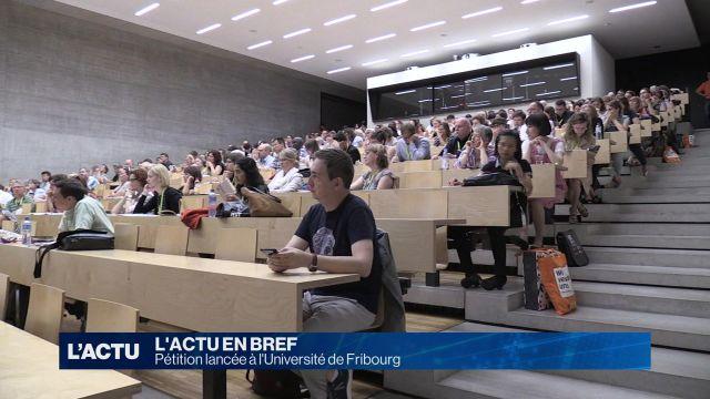 Pétition lancée à l'Université de Fribourg