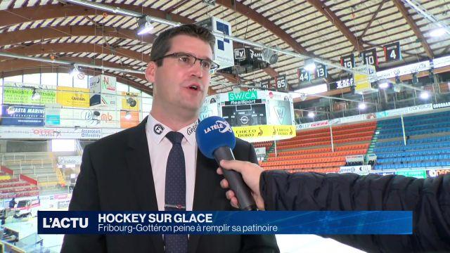 Fribourg-Gottéron peine à remplir sa patinoire