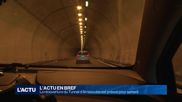 Le trafic reprendra samedi dans le tunnel d'Arrissoules