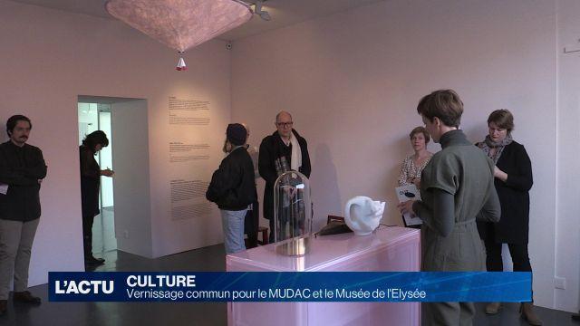 Vernissage commun pour le MUDAC et le Musée de l'Elysée