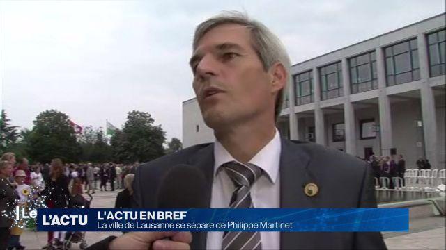 La ville de Lausanne se sépare de Philippe Martinet