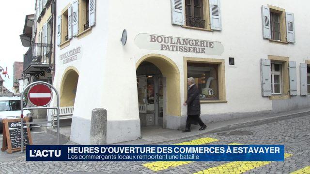 Estavayer-le-Lac revoit les heures d'ouverture des magasins