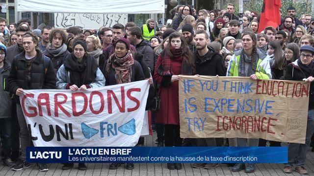 Mobilisation contre la hausse des taxes universitaires