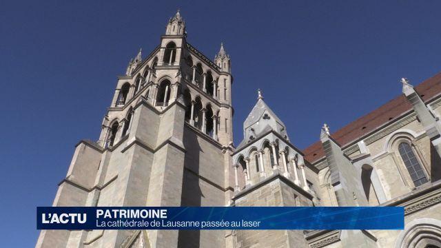 La cathédrale de Lausanne passée au laser
