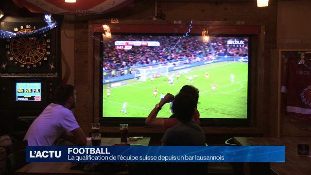 La qualification de l'équipe suisse depuis un bar lausannois