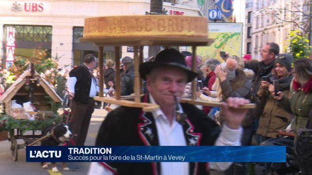Succès pour la foire de la St-Martin à Vevey