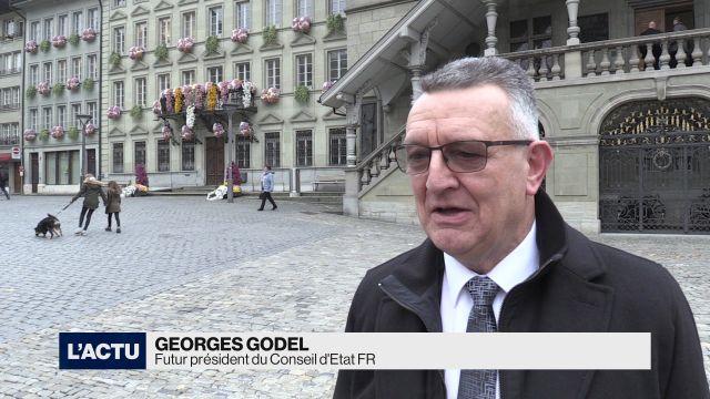 Georges Godel président du Conseil d'Etat fribourgeois