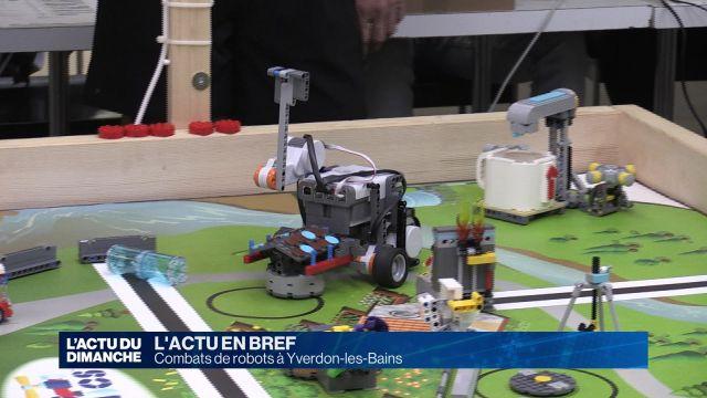 Combats de robots à Yverdon-les-Bains