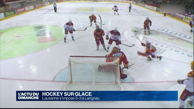 Le Lausanne HC s'impose 5-3 à Langnau