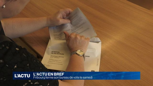 Fribourg ferme son bureau de vote le samedi