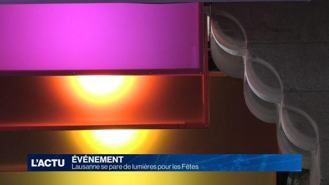 Lausanne se pare de lumières pour les Fêtes