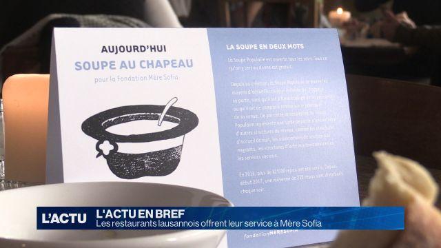 Les restaurants lausannois offrent leur service à Mère Sofia