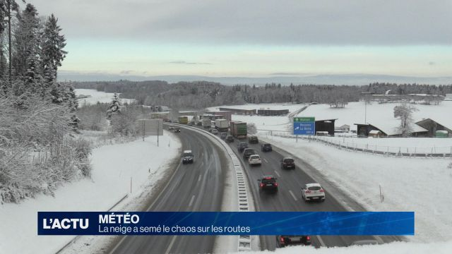 La neige fait des dégâts sur les routes