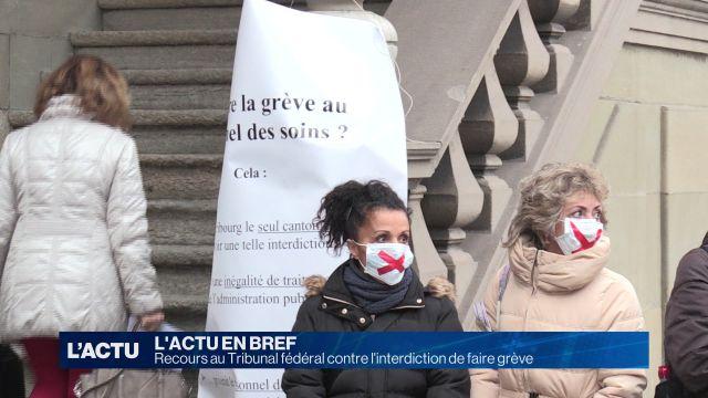 Recours au TF contre l'interdiction de faire grève