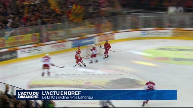 Le LHC s'incline 4-1 à Langnau