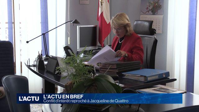 Conflit d'intérêt pour Jacqueline de Quattro
