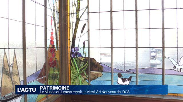 Un vitrail Art nouveau pour le Musée du Léman