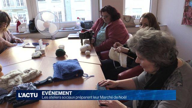 Les ateliers sociaux préparent leur Marché de Noël