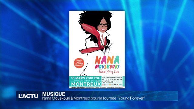 Nana Mouskouri en concert à Montreux le 10 mars 2018