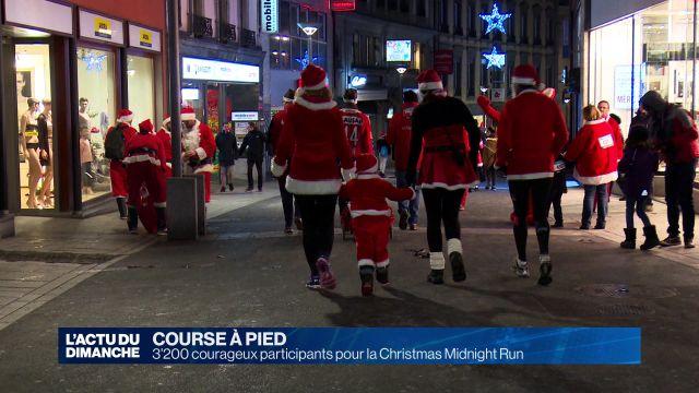 3'200 courageux participants pour la Christmas Midnight Run
