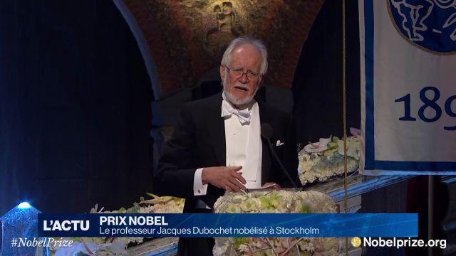 Le professeur Jacques Dubochet nobélisé à Stockholm