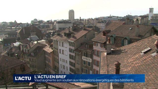 Vaud augmente son soutien aux rénovations énergétiques