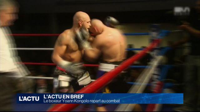 Le boxeur Yoann Kongolo repart au combat