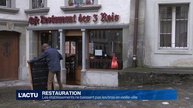 Les restaurateurs ne baissent pas les bras en vieille-ville