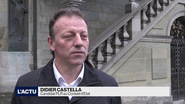 Didier Castella candidat PLR au Conseil d'Etat fribourgois