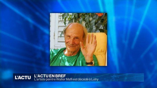 L'artiste peintre Walter Mafli est décédé à Lutry