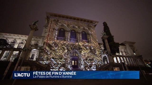 Le Palais de Rumine s'illumine