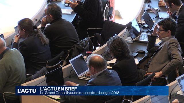 Le Grand Conseil vaudois accepte le budget 2018