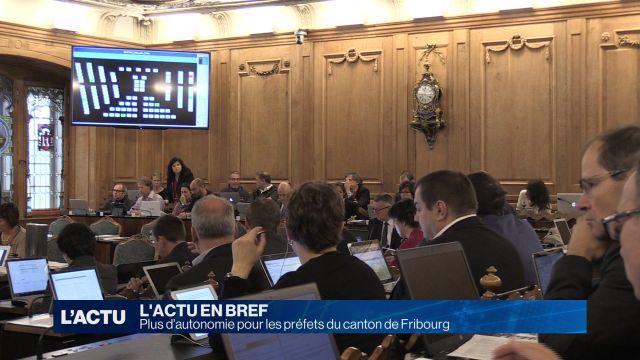 Plus d'autonomie pour les préfets du canton de Fribourg