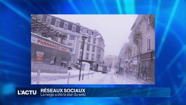 La neige, star des réseaux sociaux
