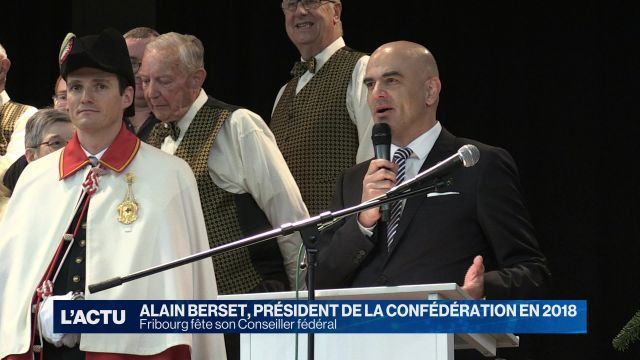 Alain Berset à l'honneur à Fribourg